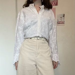 Classic white button-up